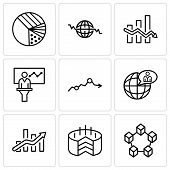 Set Of 9 Simple Editable Icons Such As Data Interconnected, Folder Connected Circuit, Bars Chart, Gl poster