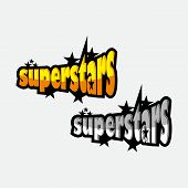 Vector Illustration Of Super Star Text For Boys/girls Clothes. Super Star Badge/tag/icon. Inspiratio poster
