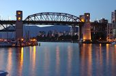 Burrard Bridge At Dusk Vancouver Bc.,canada.