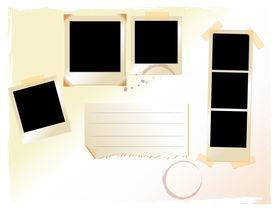 picture of storyboard  - pictures along with old fashioned paper with note space - JPG