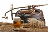 picture of spigot  - still life with beer barley and old spigot - JPG
