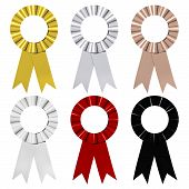Six Award Ribbons