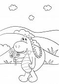 Coloring Book With Dragon