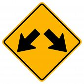 Warning Keep Left Or Keep Right Traffic Road Sign,vector Illustration, Isolate On White Background L poster