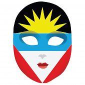 Máscara Antigua y Barbuda
