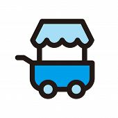 Food Cart Icon Isolated On White Background From Miscellaneous Collection. Food Cart Icon Trendy And poster