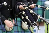 schottische Pipe band