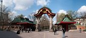 Famous entrance at Zoological garden in Berlin