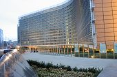 European Parilaiment Building In Bruxelles