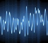 picture of sine wave  - large image of an electronic sine sound or audio wave - JPG