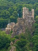 Medieval Castle On The Rock poster