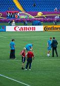Kharkiv, Ukraine - June 9: Netherlands National Football Team Tests Pitch