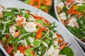 Paco Fern Spicy Salad Shrimp Prawn / Healthy Salad Recipe For Fresh Seafood Shrimps Vegetable Tomato poster