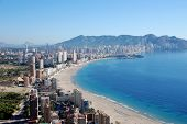 foto of costa blanca  - The city Benidorm on the Costa Blanca  - JPG