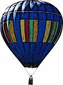 Blue Hot Air Balloon Illustration