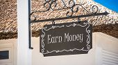 Street Sign The Direction Way To Earn Money poster