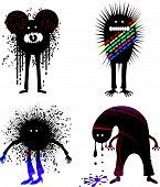 Four strange people