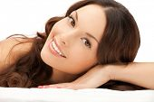 picture of beauty parlor  - picture of beautiful woman beautiful woman in spa salon - JPG