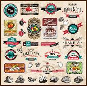 Premium quality collection of Vintage Restaurant, bistro and food & co labels with different styles and space for text.