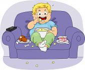 Illustration of an Overweight Boy