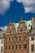 Traditional Renaissance Building In The Copenhagen, Denmark poster