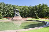 Monument of Chopin - Warsaw, Poland.