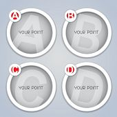 ABC progressive circular labels / templates in white