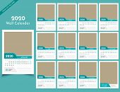 Calendar 2020 Templates In Vecto Design Illustration 2 poster