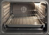 picture of convection  - The inside of a stove oven - JPG