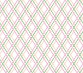 Geometric Background, Seamless, Thin Pink Lines, Diamonds, Vector. Pink And Green Thin Lines Cross O poster