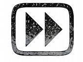 Play Forward Symbol Black Chrome