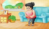 Illustration of an overweight woman