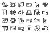 Technical Document Icons. Set Of Instruction, Plan And Manual Icons. Help Document, Building Plan An poster