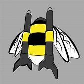 rocket bumble-bee