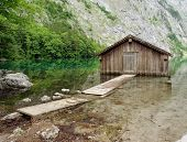 Wooden Garage For Boats.
