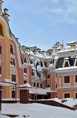 Multi-colored Buildings In Kiev Taken On Podol In March 2013