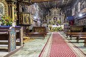 Interior Of St John The Baptist Church - Orawka, Poland.