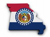 Missouri Flag Map Shape