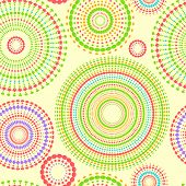 Colorful abstract seamless pattern with round shapes, vector
