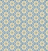 pic of ottoman  - Vector Arabic honeycomb Seamless Pattern Background with stars - JPG