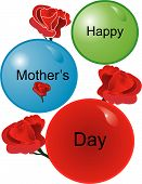 stock photo of stepmother  - Roses and balls for the Mom we love on Mothers day - JPG