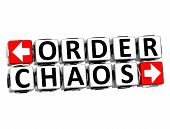 3D Order Chaos Button Click Here Block Text