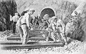 Construcción del ferrocarril