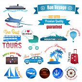Travel Labels, Logos And Stickers