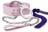 pic of kinky  - Pink leather collar - JPG