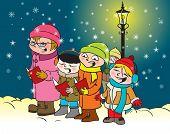 Caroling kids