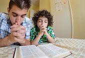 Young Family Praying