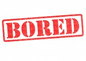 Bored Rubber Stamp