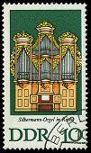 Gdr - Circa 1976: A Stamp Printed In Gdr Shows Silbermann Organ, Rotha, Germany, Circa 1976