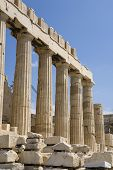 Athens Parthenon And Columns